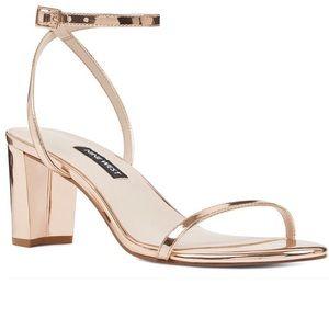 Nine West Rose Gold Shoe Sandals